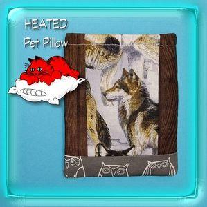 Wolf Owl Animal Reusable Pet Pillow Heating Pad